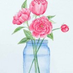 How to Paint Peonies with a Watercolor Effect