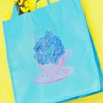 Tea Time Totebag with Fabric Markers