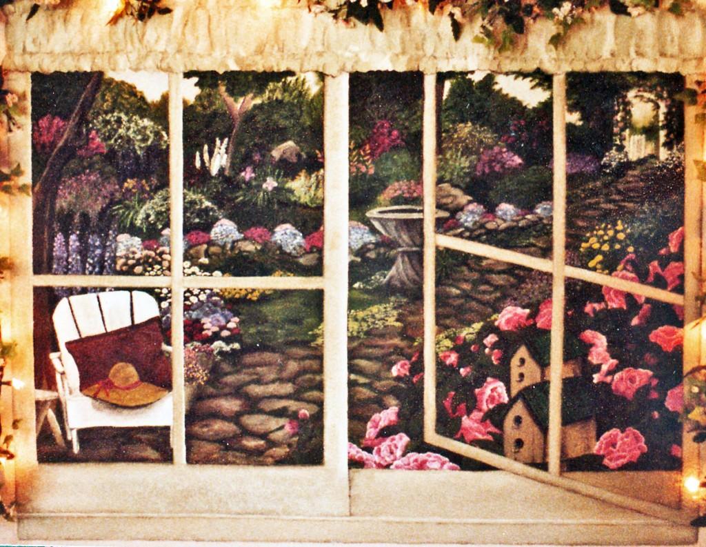 Garden Window Mural