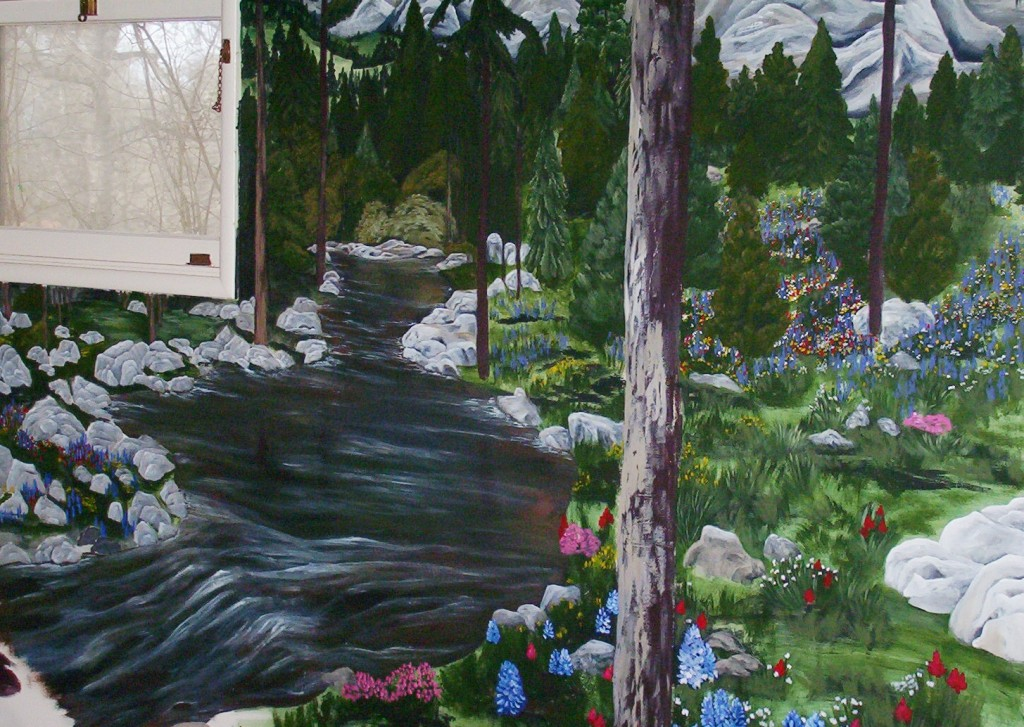 Mountain Stream Mural