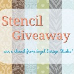 Stencil Giveaway from Royal Design Studio!