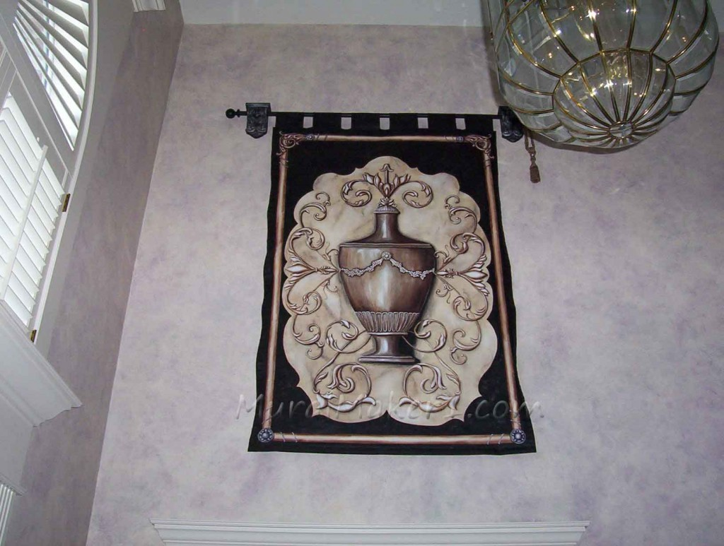 Neoclassic Painted Canvas