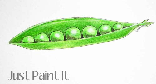 watercolor peas