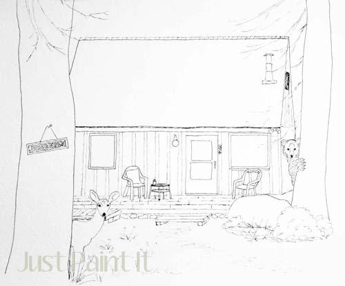 cabin portrait