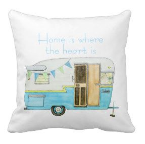 vintage camper pillow