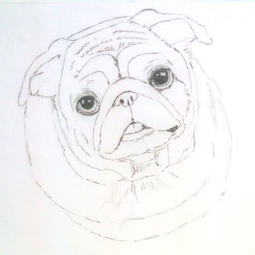 pug painting