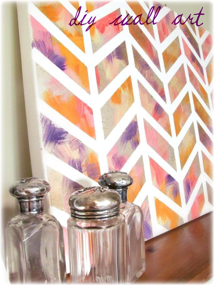 15 diy paintings for non artists just paint it blog for Art and craft for school decoration