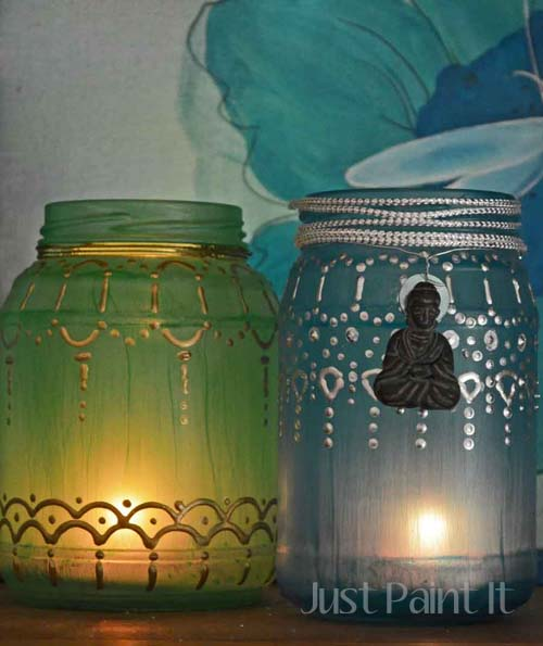 DIY Tea Light Jars