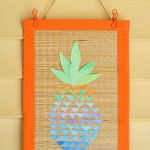 Make a Watercolor Pineapple Banner