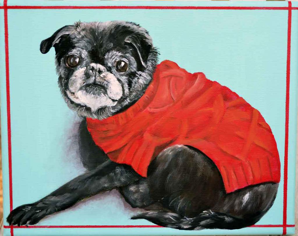 pug-painting