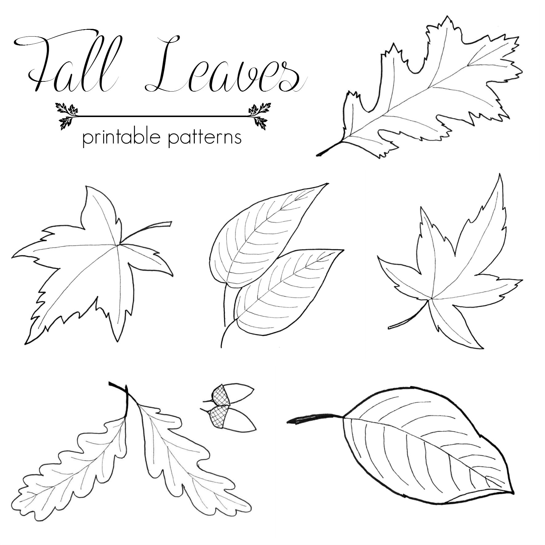 Fall Leaf Patterns - Just Paint It Blog
