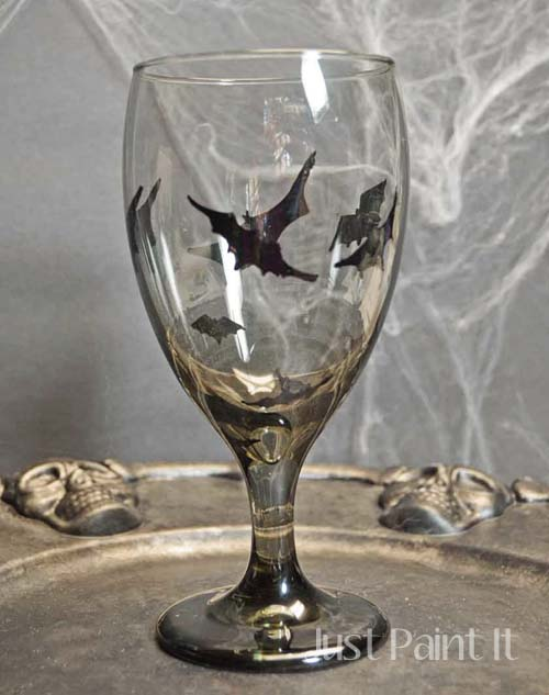 Painted Halloween Goblets