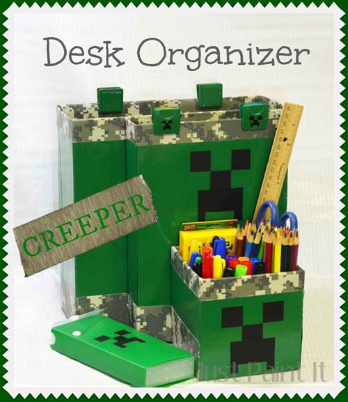 Minecraft Desk Organizer