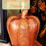 Paint a Glittered Copper Pumpkin