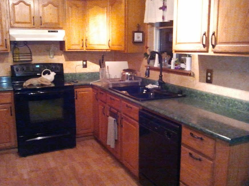 Painted Kitchen Countertops - Just Paint It Blog