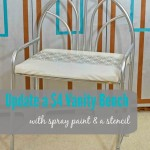 A Super Simple Spraypainted Stenciled Stool