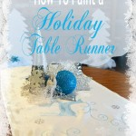 How To Paint a Holiday Table Runner