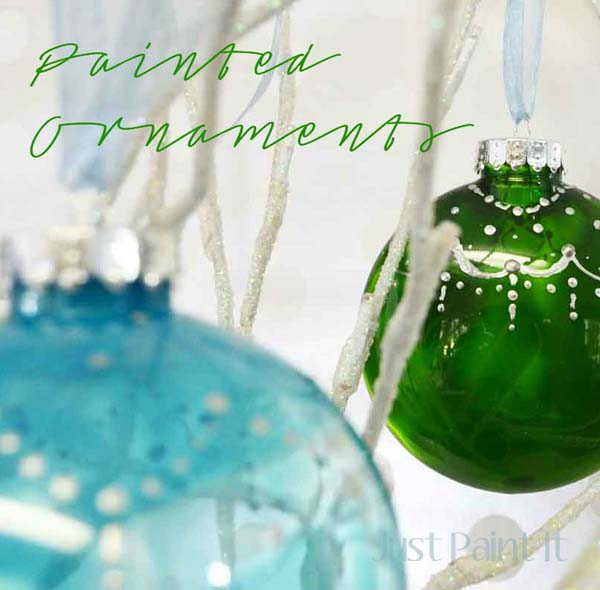 Painted christmas ornaments just paint it blog painted ornaments solutioingenieria Image collections