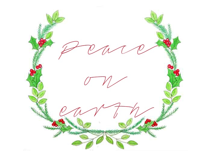 photo relating to Christmas Wreath Printable named Totally free Xmas Wreath Printable - Simply just Paint It Website