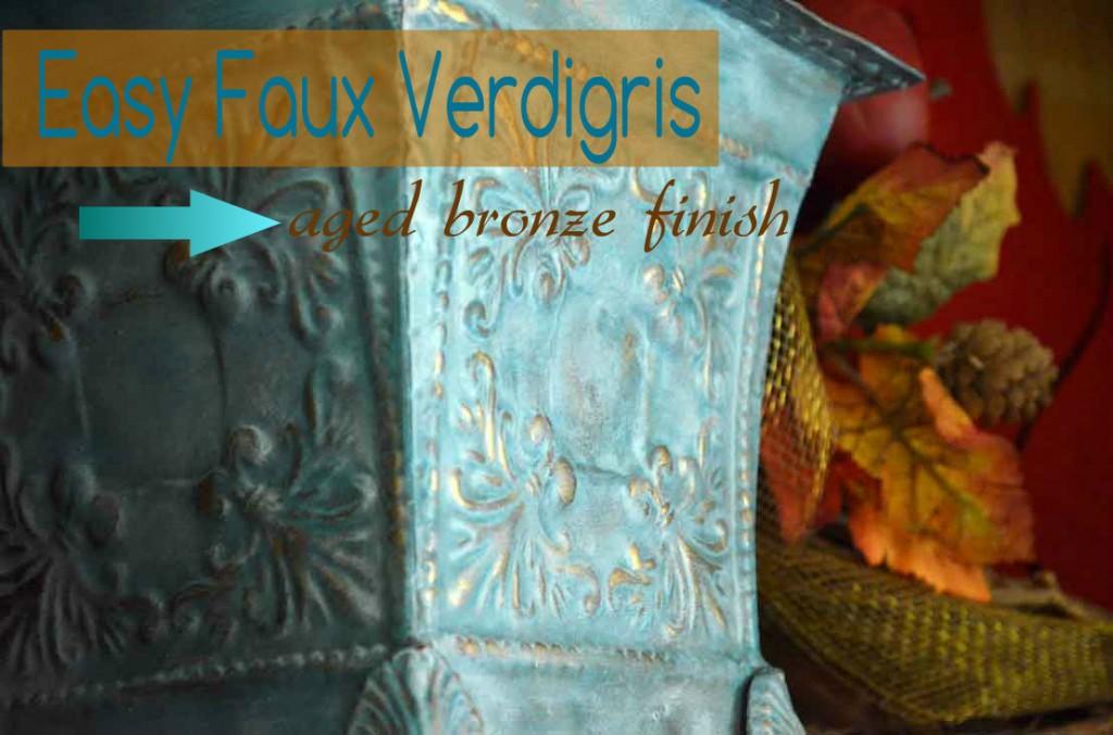 Easy Faux Verdigris Finish