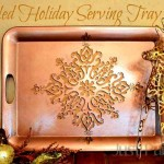Stenciled Holiday Serving Tray