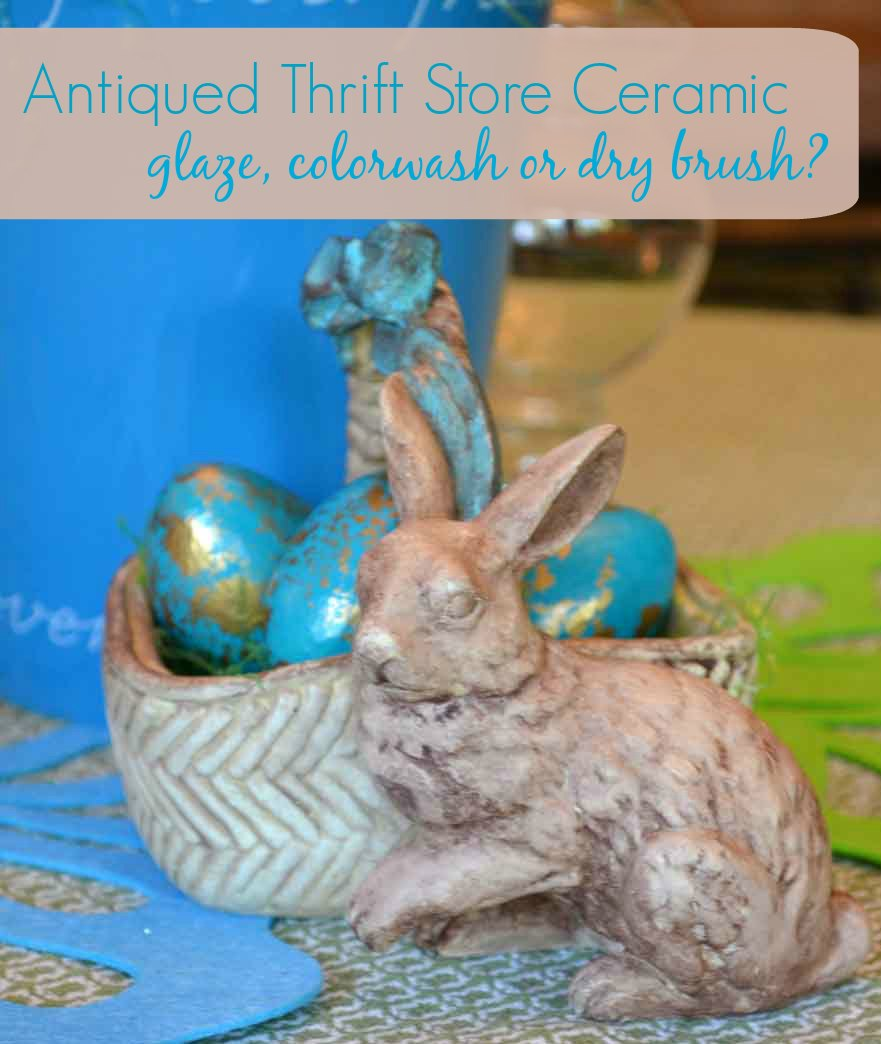 Antiquing Ceramics – glaze, colorwash or dry brush?