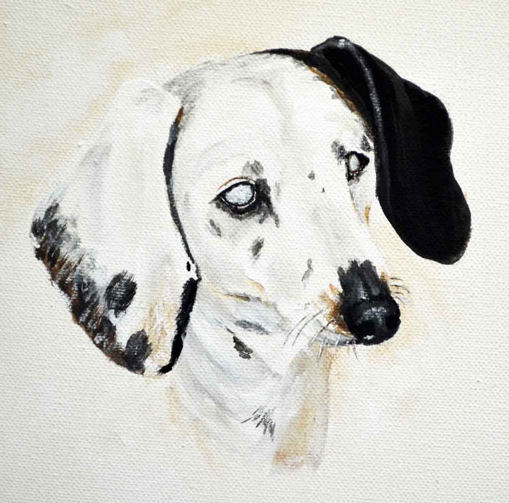 dapple dachshund painting