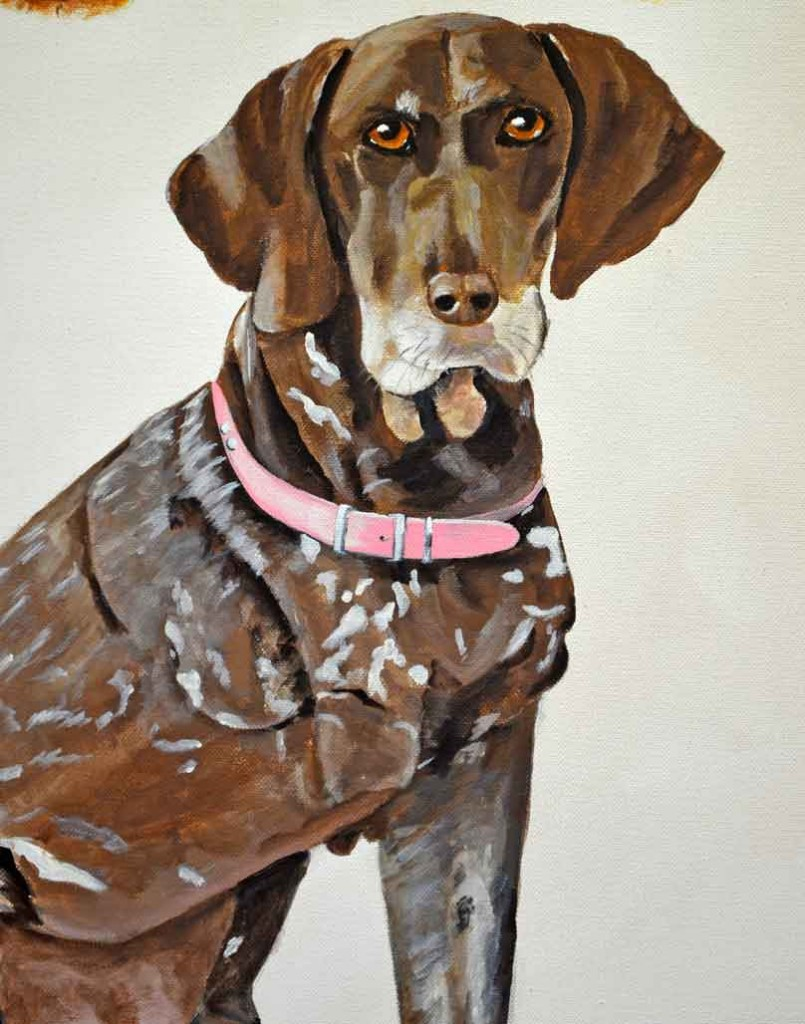 German shorthair pointer painting