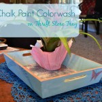 Chalk Paint Colorwash on Thrift Store Tray