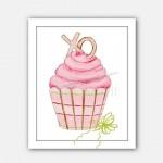 Cupcake-art-print