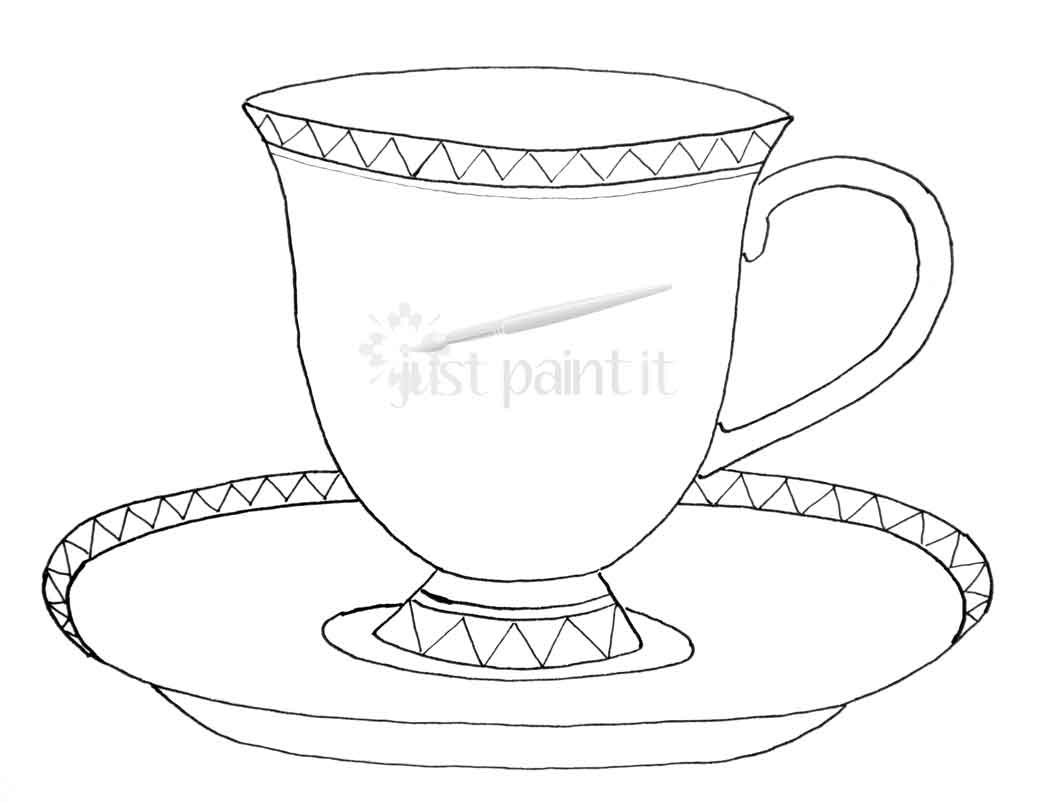 graphic about Teacup Printable named teacup-printable - Exactly Paint It Website