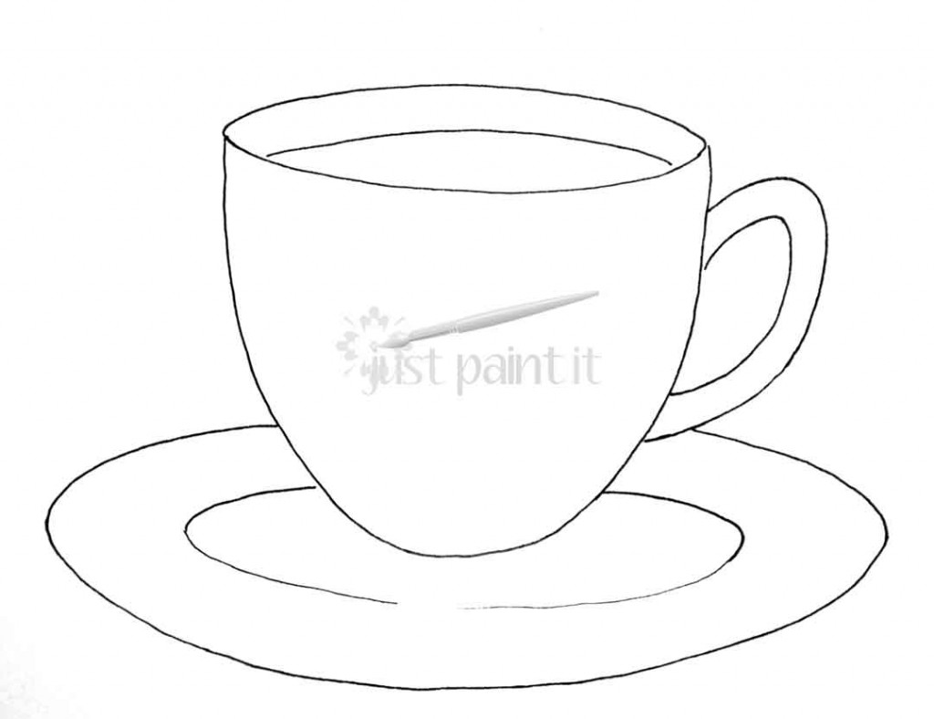 tea cup coloring printable coloring pages. Black Bedroom Furniture Sets. Home Design Ideas