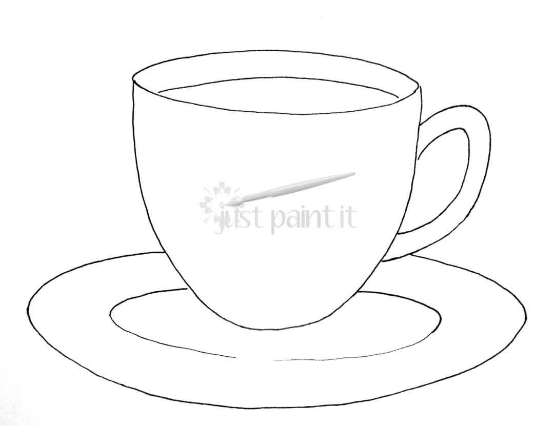 photo about Teacup Printable known as teacup-printable - Accurately Paint It Web site