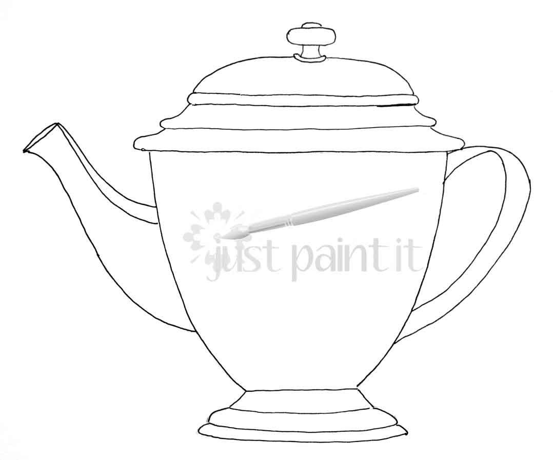 image relating to Teapot Printable named teapot-printable - Merely Paint It Website