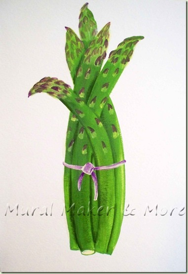 how to paint asparagus