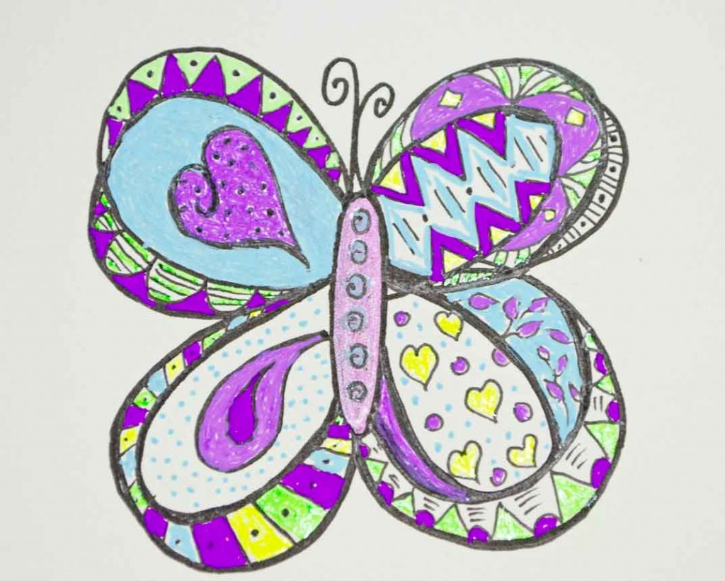 Butterfly-doodle-coloring-page
