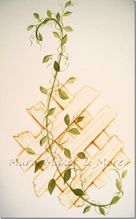 paint trellis without stencil