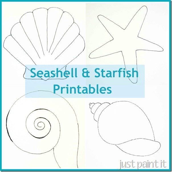 Seashells and Starfish Printable