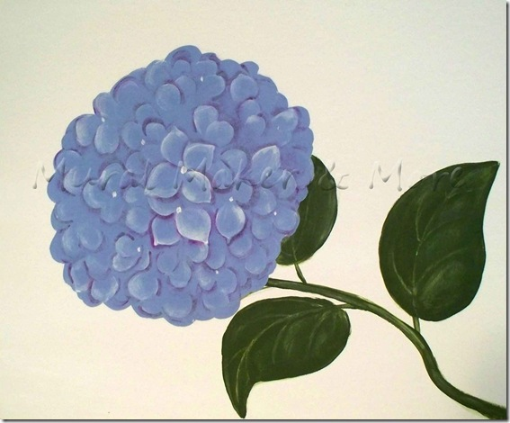 paint hydrangeas 3 ways