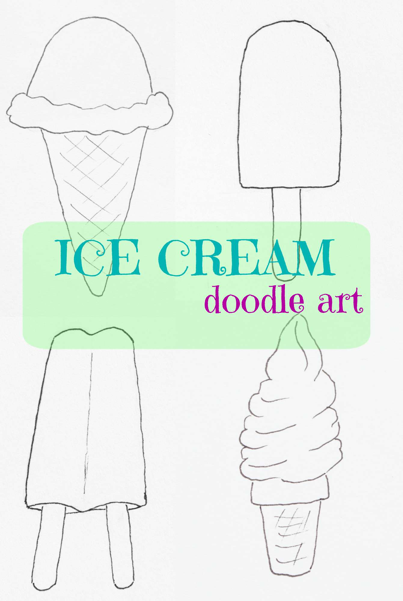 freebie friday ice cream coloring pages