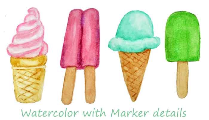 summer-treat-watercolors