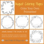 Fall Wreath Coloring Pages Kit!