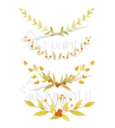 Fall Leaf Amp Berry Watercolor Clipart Just Paint It Blog