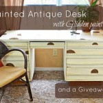 painted antique desk