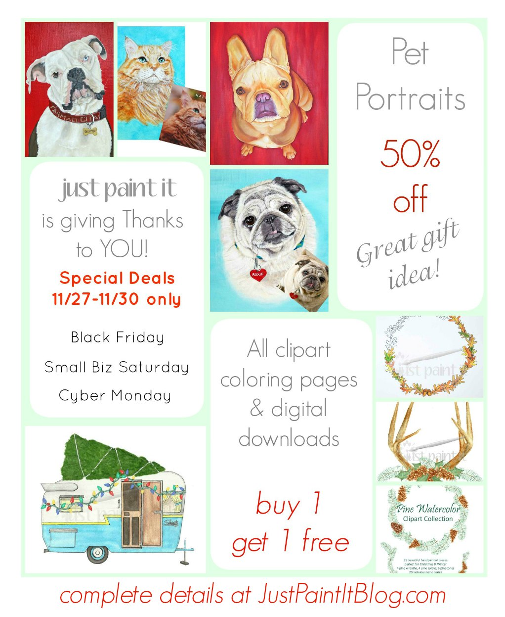 Black Friday Specials on Pet Portraits!
