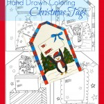 Free Coloring Christmas Gift Tags