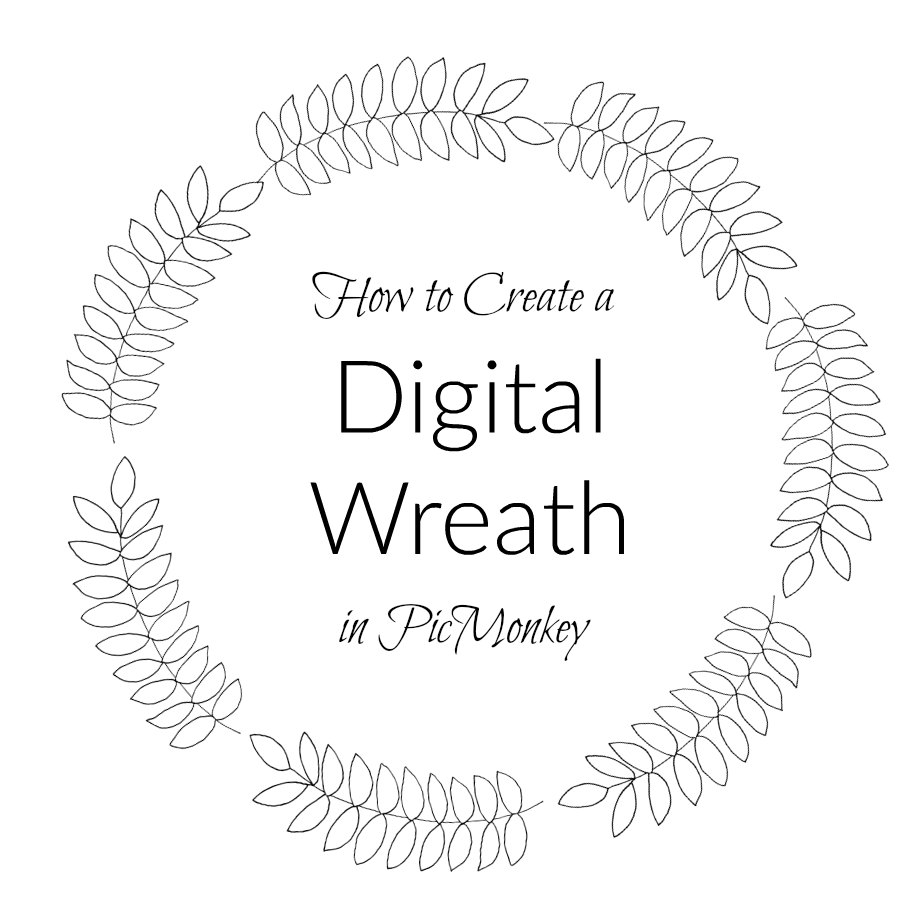 create a Digital Wreath