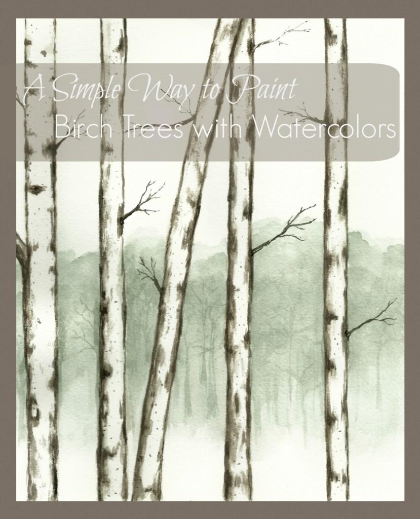 paint birch trees