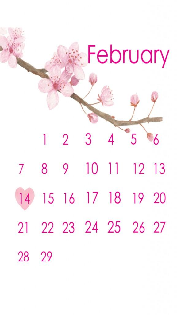 cherry blossom watercolor calendar