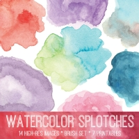Watercolor Splotches at The Graphics Fairy